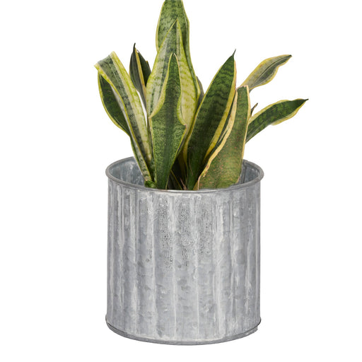 Galvanized Round Planter