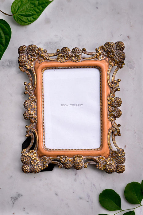 Photo Frame - Coral Gold