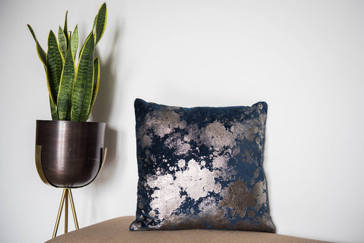 Greece Silver Splatter Cushion Cover