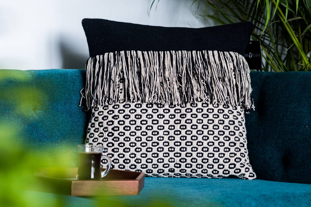 Denmark Bold Tassles Cushion Cover