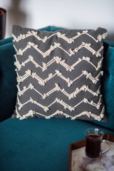 Denmark Grey Waves Cushion Cover