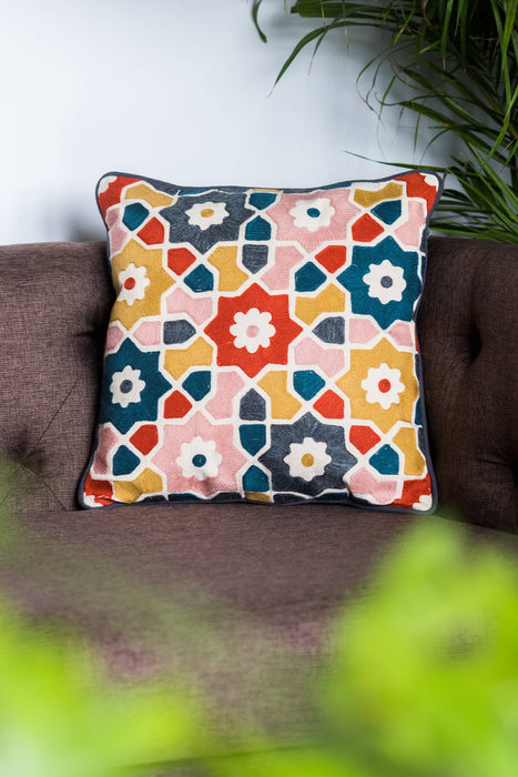 Samarkand Flowers Cushion Cover