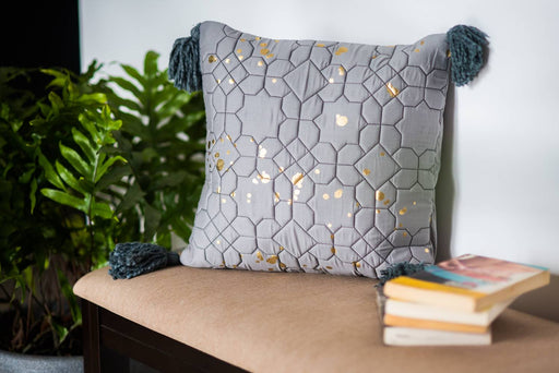Navroz Blue Gold Stars Cushion Cover
