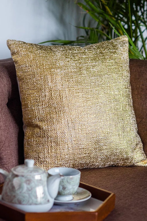 Navroz Gold Blocks Cushion Cover