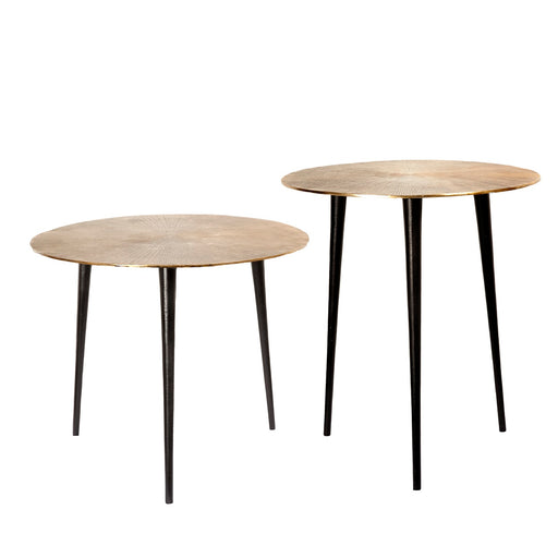 Sunburst Casted Cluster Table ( Set of 2)
