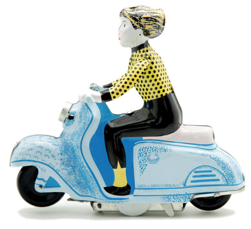 Blue Scooter Girl