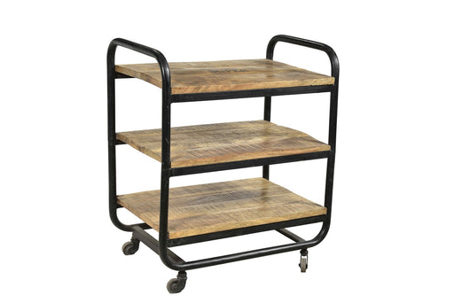 Iron Rack Wood Shelf