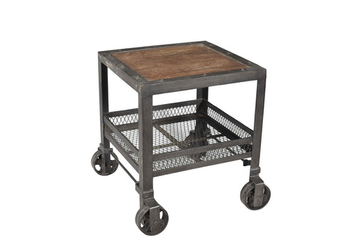 Iron Trolly With Wooden Top