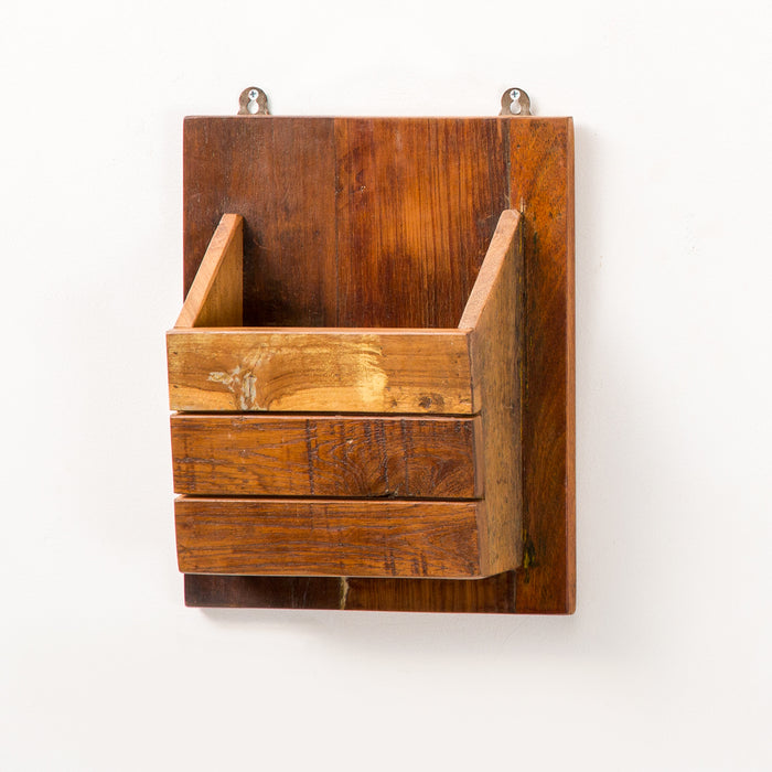 Art Wooden Wall Magzine Holder Small