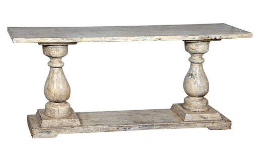 Wooden Console Table With Pillar Detail