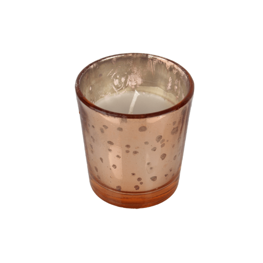 Glass Copper Tealight Candle
