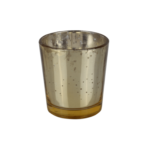 Glass Gold  Tealight Candle