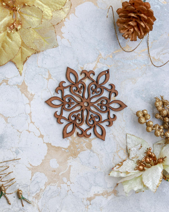 Hardboard Laser Cut Christmas Snowflake (set of 2)