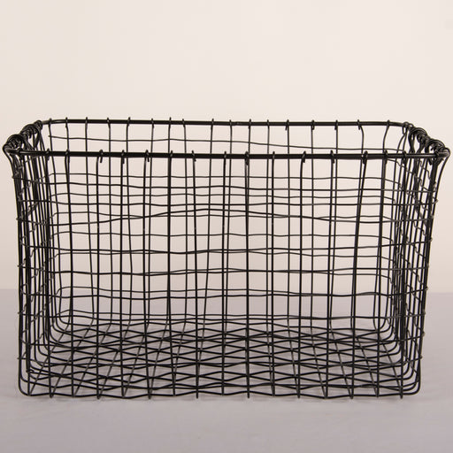 Round Wire Basket (Black)