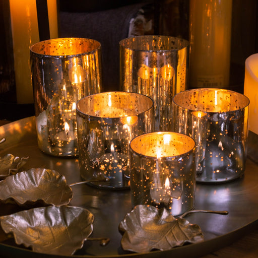 Gold Foil Tea Light Holders