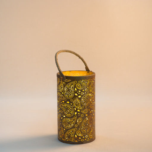 Lucy Candle Holder With Jute Handle