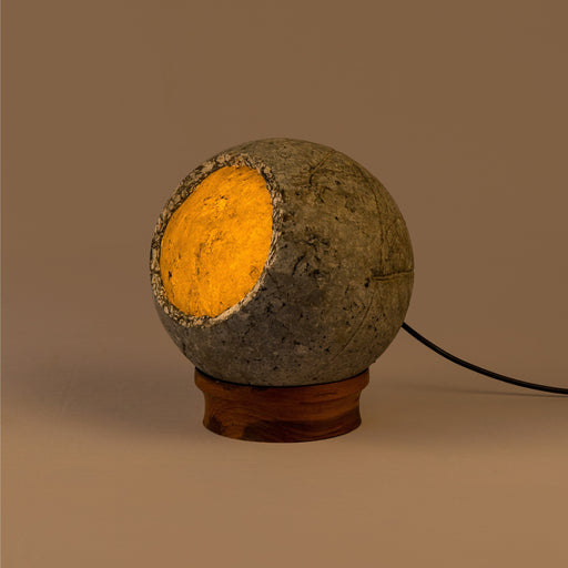 Woodlot Bulbous Table Lamp (Wooden Base)