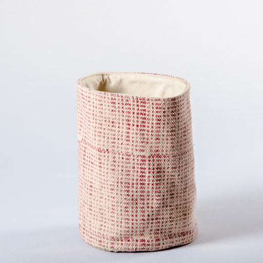 Red Dot Fabric Planter