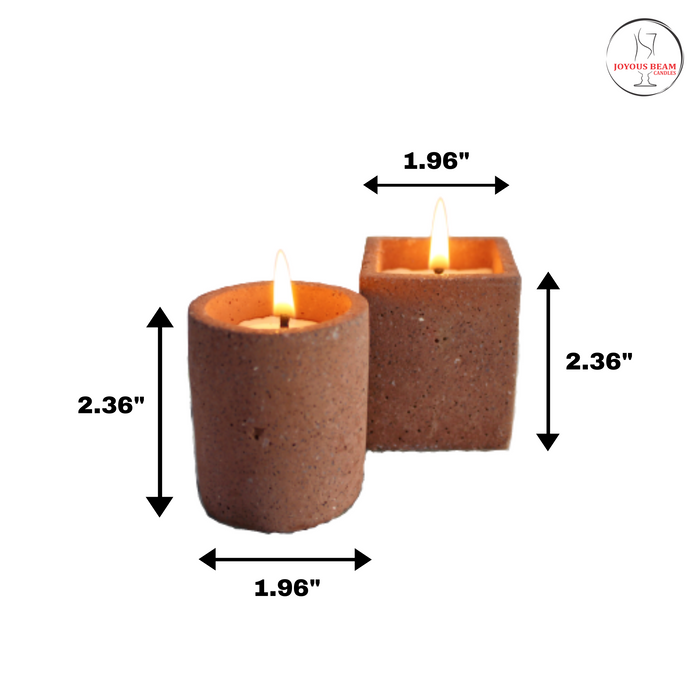 Joy Candle (Set of 2 - Coffee)