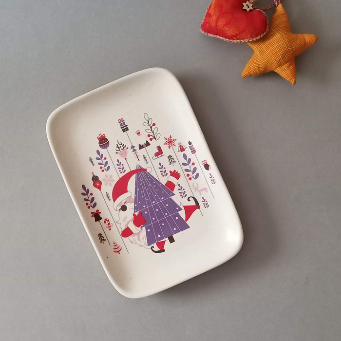 Happy Santa - Rectangle Platter