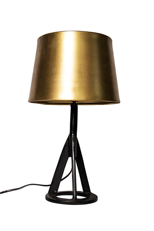Brass Shade Prism Table Lamp
