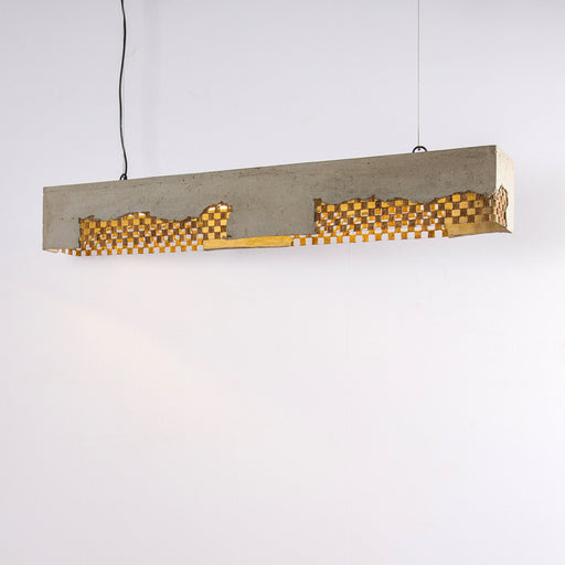 Oblang Pendant Lamp with Mesh And Banana Rope