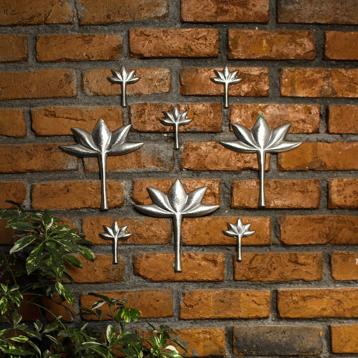 Metal Lotus Wall Hanging