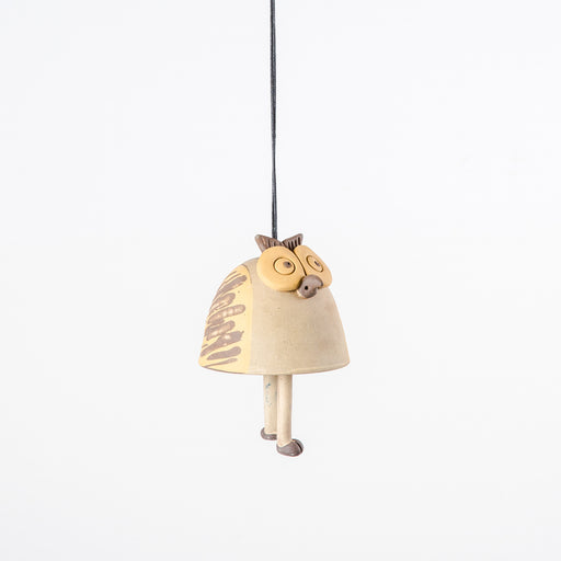 Clay Hanging Owl Bell