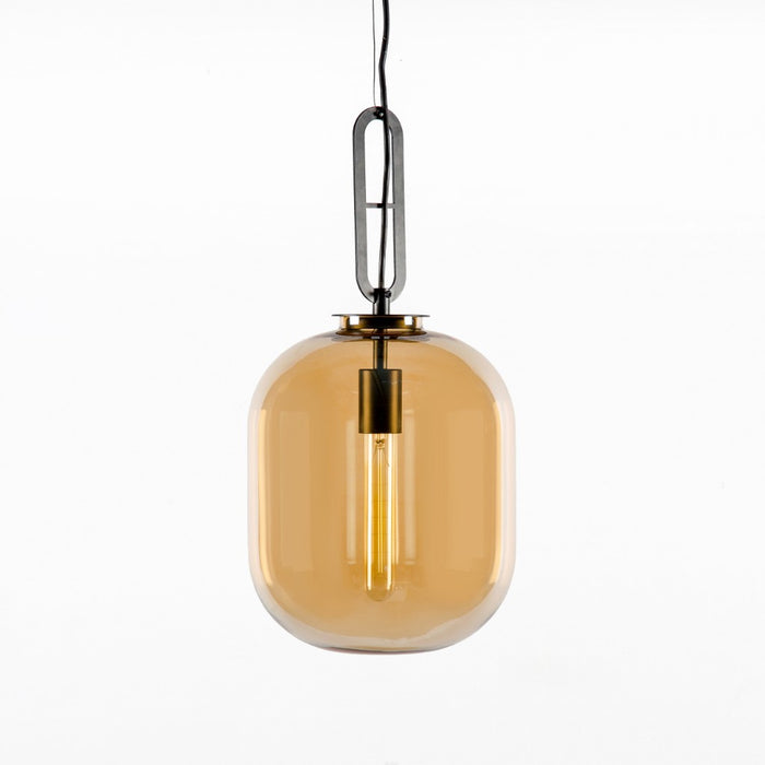 Tyla Amber Glass Pendant Lamp