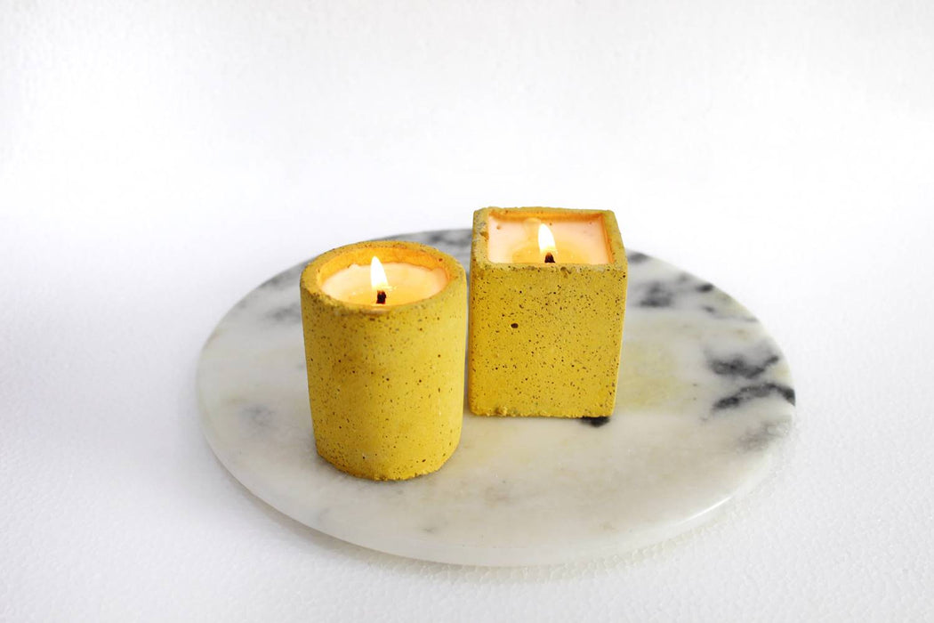 Joy Candle (Set of 2 - Yellow)