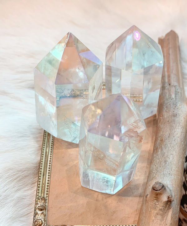 Angel Aura Clear Quartz Point