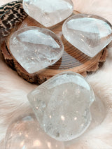 Clear Quartz Heart-Shaped Palm Stones