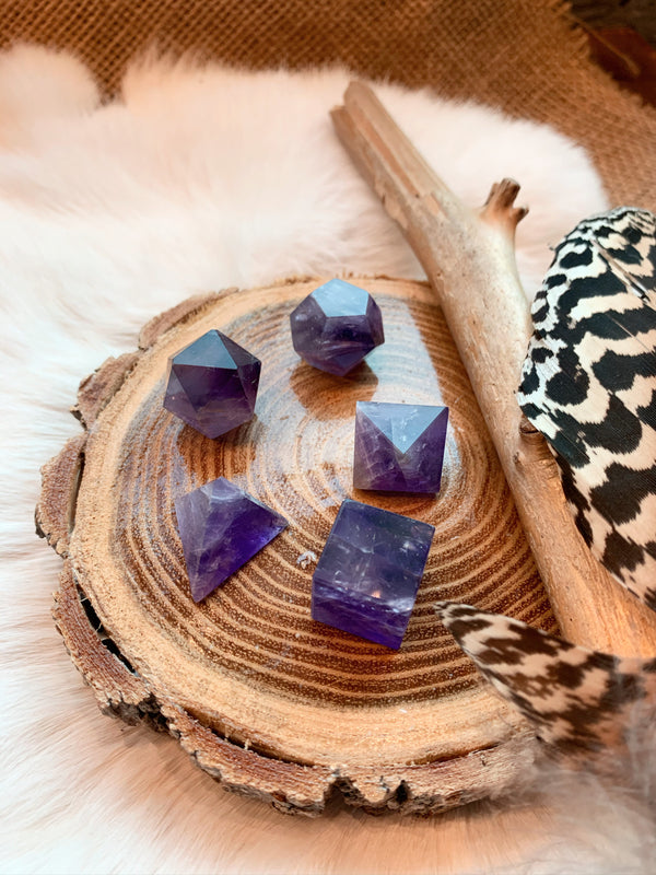 Amethyst Geometry Set ~ Platonic Shapes