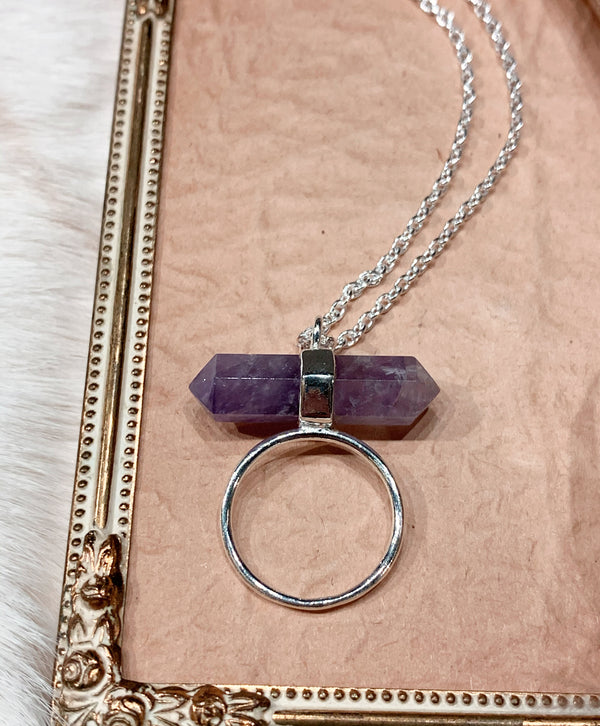 Amethyst Double-Terminated Necklace