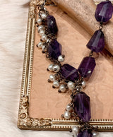 Amethyst With Pearls Necklace