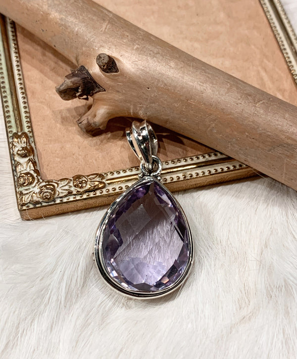 Amethyst Pendant - Faceted