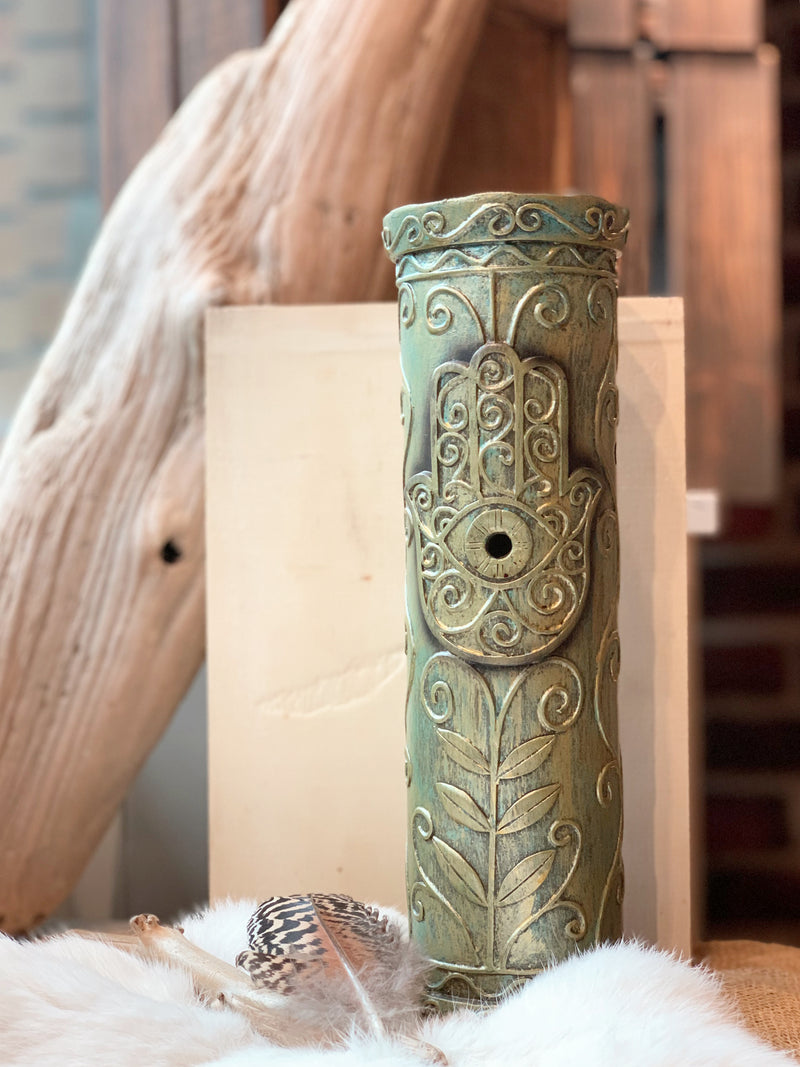 Hamsa Hand Tower Incense Burner