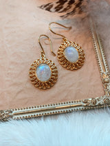Moonstone Earrings - Gold Plated