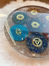 7 Chakra Orgonite Charging/Display Plate