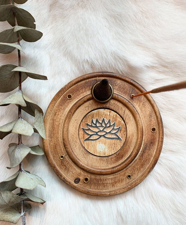 Lotus Wood Incense Holder