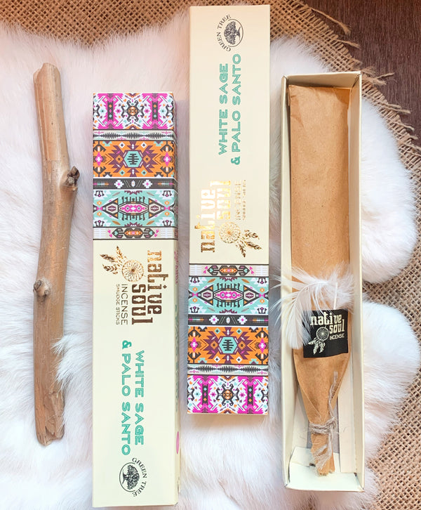 White Sage & Palo Incense Sticks