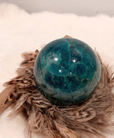 Neon Apatite Sphere Large