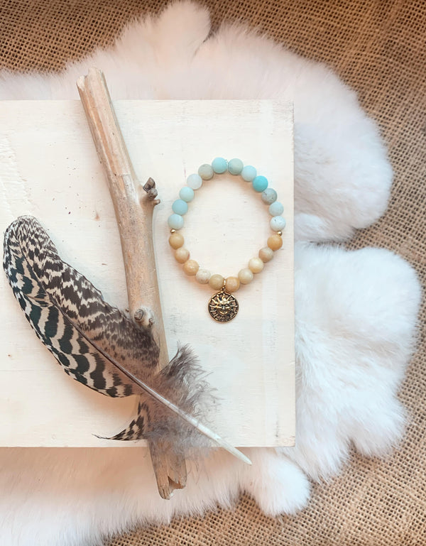 Amazonite & Calcite Bracelet