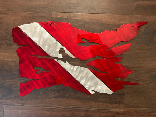 Aluminum Dive Flag with Free Diver