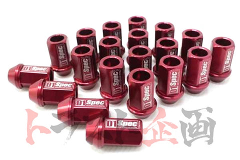D1 Spec Wheel Nuts - M12 x P1.25/40mm Red #593131009 - Trust Kikaku