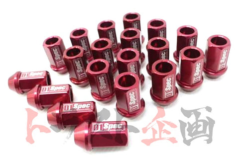 D1 Spec Wheel Nuts - M12 x P1.5 / 40mm Red #593131011 - Trust Kikaku