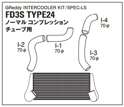TRUST Greddy Intercooler Kit Front Mount for OEM Turbine TYPE24F - FD3S ##618121219