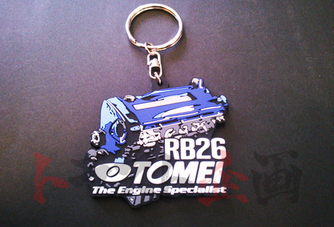 TOMEI POWERED Silicone Rubber Keychain RB26 Engine #612191060 - Trust Kikaku
