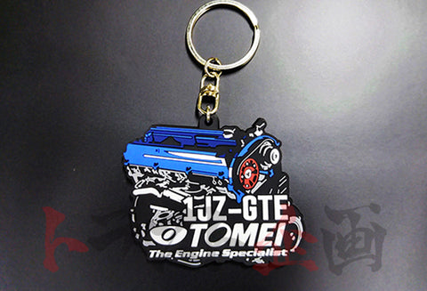 TOMEI POWERED Silicone Rubber Keychain 1JZ Engine ##765009