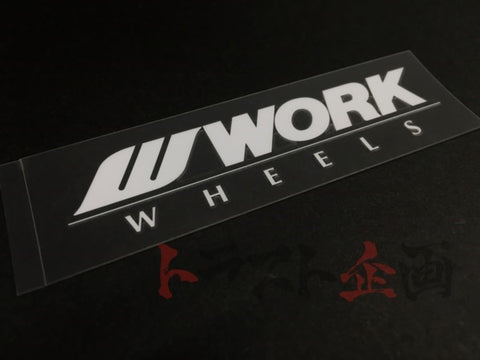 "WORK Wheel Spoke Sticker 3.9""x1.2"" - White #979191005 - Trust Kikaku"